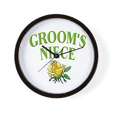 Groom's Niece (rose) Wall Clock