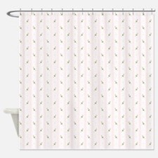Rosebuds & Stripes Shower Curtain