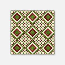 Velvet Christmas Quilt Sticker