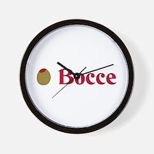 Olive Bocce (I Love Bocce) Wall Clock