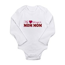 Heart Mom mom Body Suit