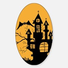 Haunted House Sticker (Oval)
