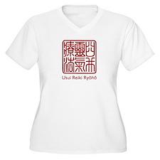 Usui Reiki Ryoho Stamp Red T-Shirt