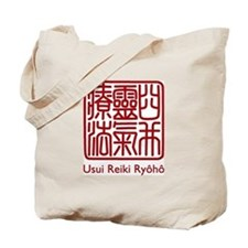 Usui Reiki Ryoho Stamp Red Tote Bag