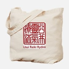 Usui Reiki Ryoho Stamp Red Tote Bag