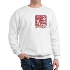 Usui Reiki Ryoho Stamp Red Sweatshirt