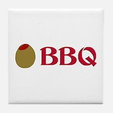 Olive BBQ (I Love BBQ) Tile Coaster