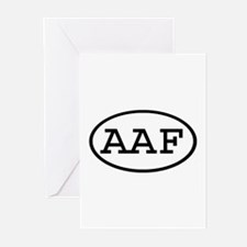 AAF Oval Greeting Cards (Pk of 10)