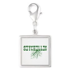 Seychelles Roots Silver Square Charm