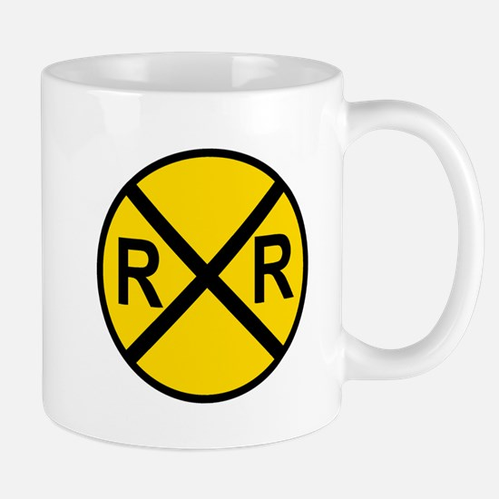 Railroad Crossing Sign Mugs