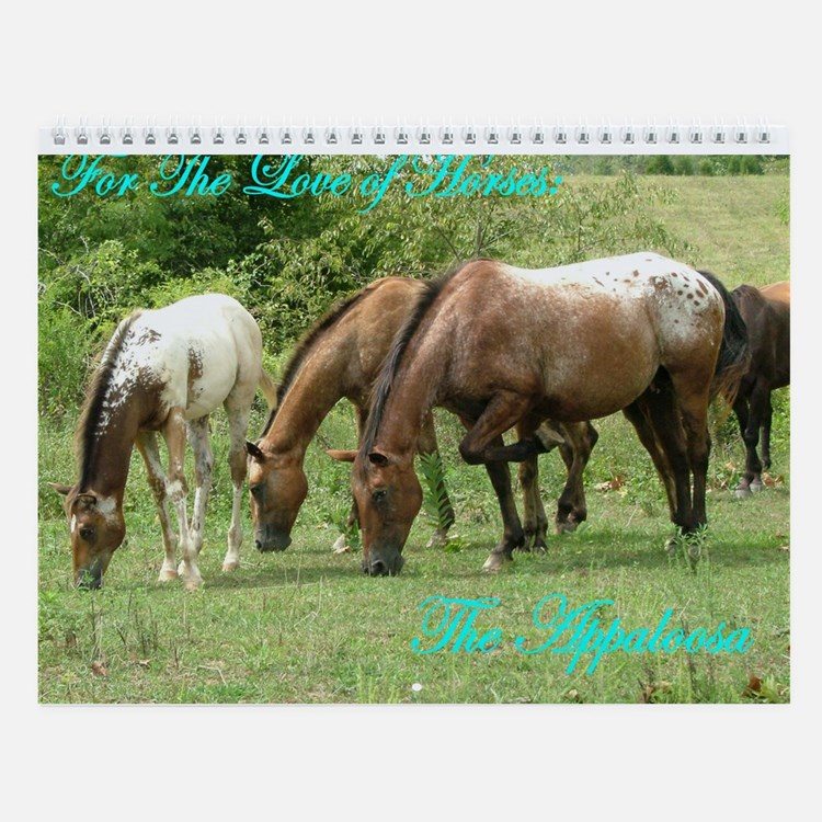 For the love of horses wall Calendar