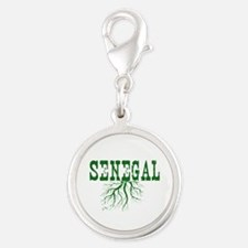 Senegal Roots Silver Round Charm
