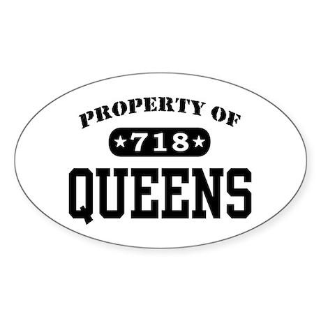 Queens Oval Sticker