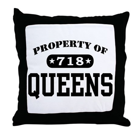 Queens Throw Pillow