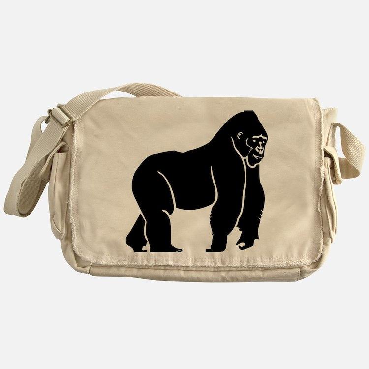 Gorilla Silhouette  Messenger Bag