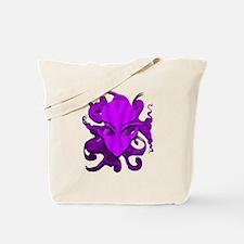 Distorted Alien Purple Tote Bag