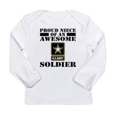 Proud Niece U.S. Army Long Sleeve Infant T-Shirt