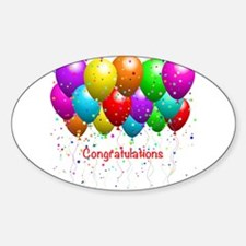 Congratulations Balloons Decal