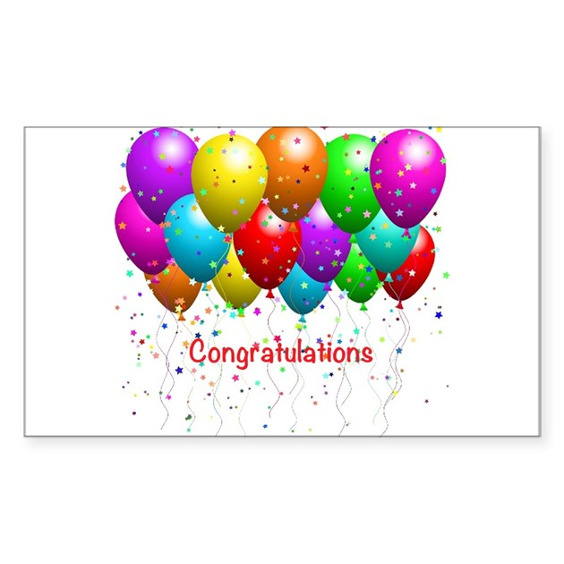 Congratulations Balloons Decal By Alittlebitofthis1
