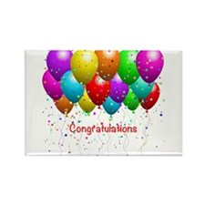 Congratulations Balloons Magnets