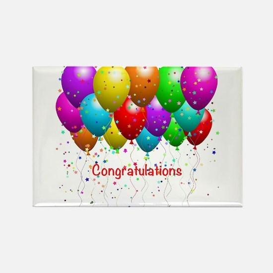 Congratulations Balloons Magnets