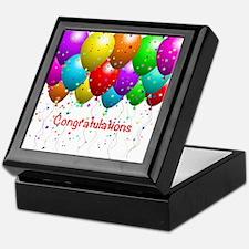 Congratulations Balloons Keepsake Box