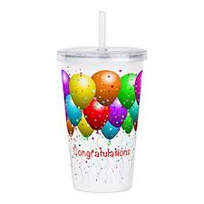 Congratulations Balloons Acrylic Double-wall Tumbl