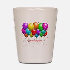 Congratulations Balloons Shot Glass