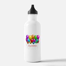 Congratulations Balloons Water Bottle