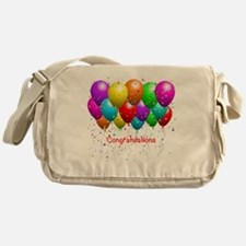 Congratulations Balloons Messenger Bag