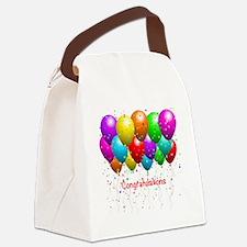 Congratulations Balloons Canvas Lunch Bag