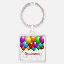 Congratulations Balloons Keychains