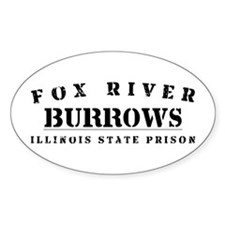 Burrows - Fox River Oval Decal