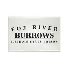 Burrows - Fox River Rectangle Magnet