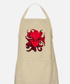 Distorted Alien Red BBQ Apron
