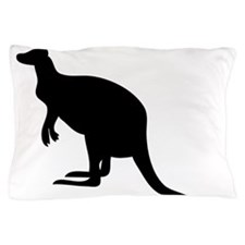Kangaroo Silhouette Pillow Case