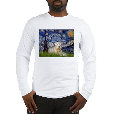 Starry Night & Wheaten Terrier Long Sleeve T-Shirt