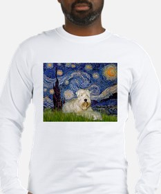 Starry Night & Wheaten Terrier Long Sleeve T-Shirt