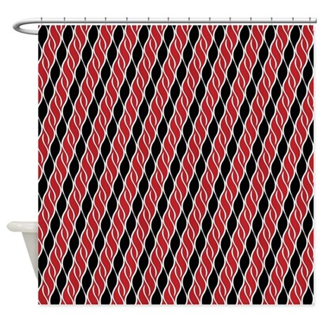 Red And Black Shower Curtain By ShowerDecor