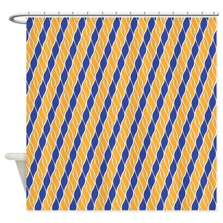Orange And Blue Shower Curtain By ShowerDecor