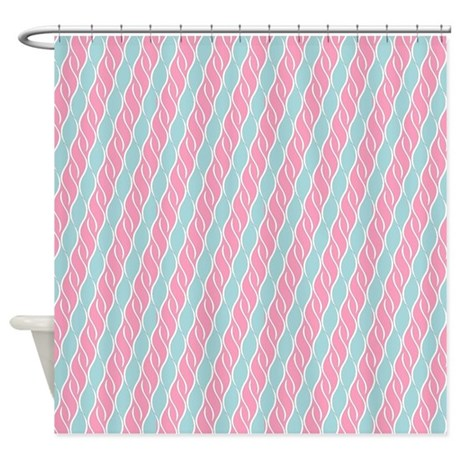 Pink And Blue Shower Curtain By ShowerDecor