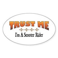 Trust Scooter Rider Oval Decal
