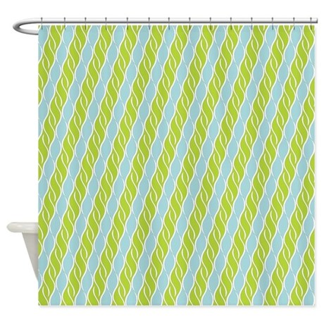 Green And Blue Shower Curtain By Showerdecor