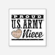 "Proud Niece U.s. Army Square Sticker 3"" X 3&q"