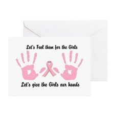 Breast Cancer is a Hands on Thing Greeting Cards