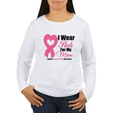 I Wear Pink For My Mommy Long Sleeve T-Shirt