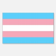 Transgender Pride Flag Sticker (Rectangle)