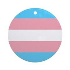 Transgender Pride Flag Ornament (Round)