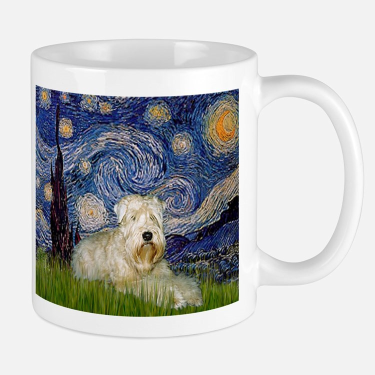 Starry Night & Wheaten Terrier Small Small Mug