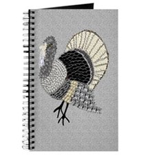Black and White Decorated Turkey Journal